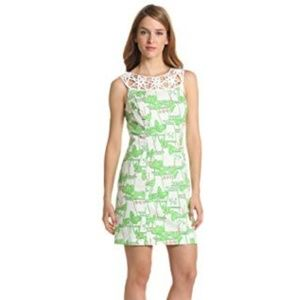 lilly pulitzer womens 00 lacina mint julep dress g